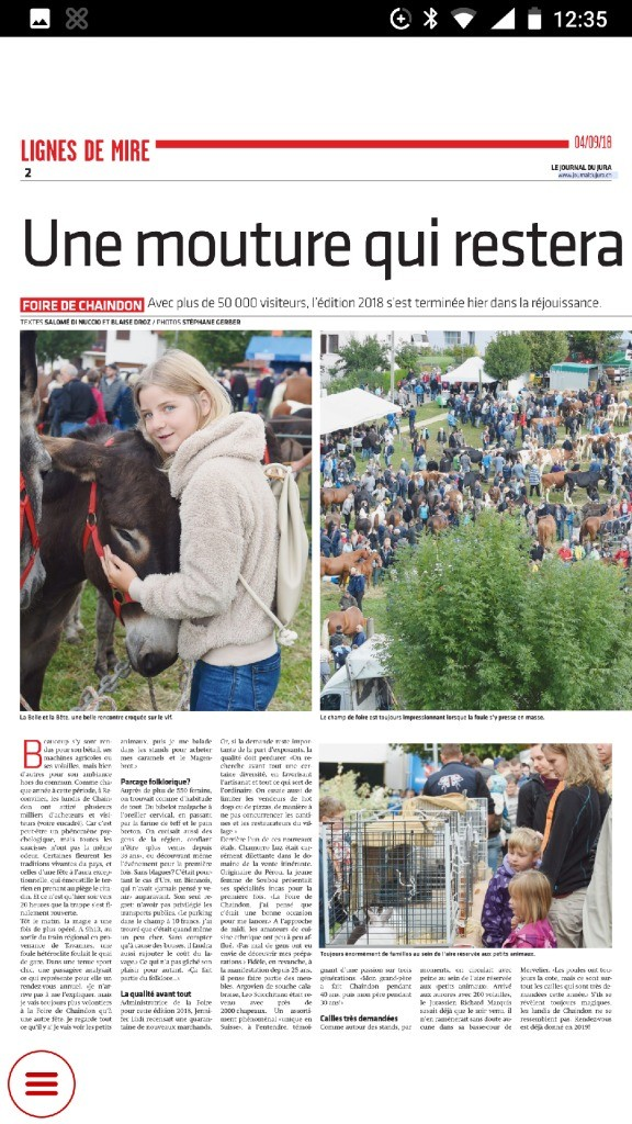 thumbnail of Journal du Jura du 04.09.2018