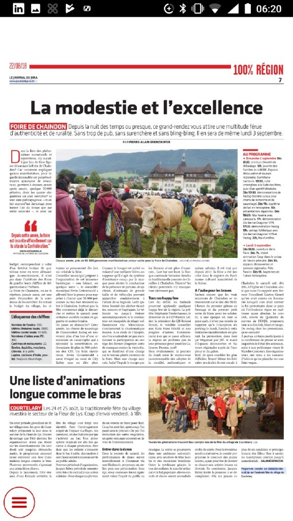 thumbnail of Journal du Jura du 22.08.2018