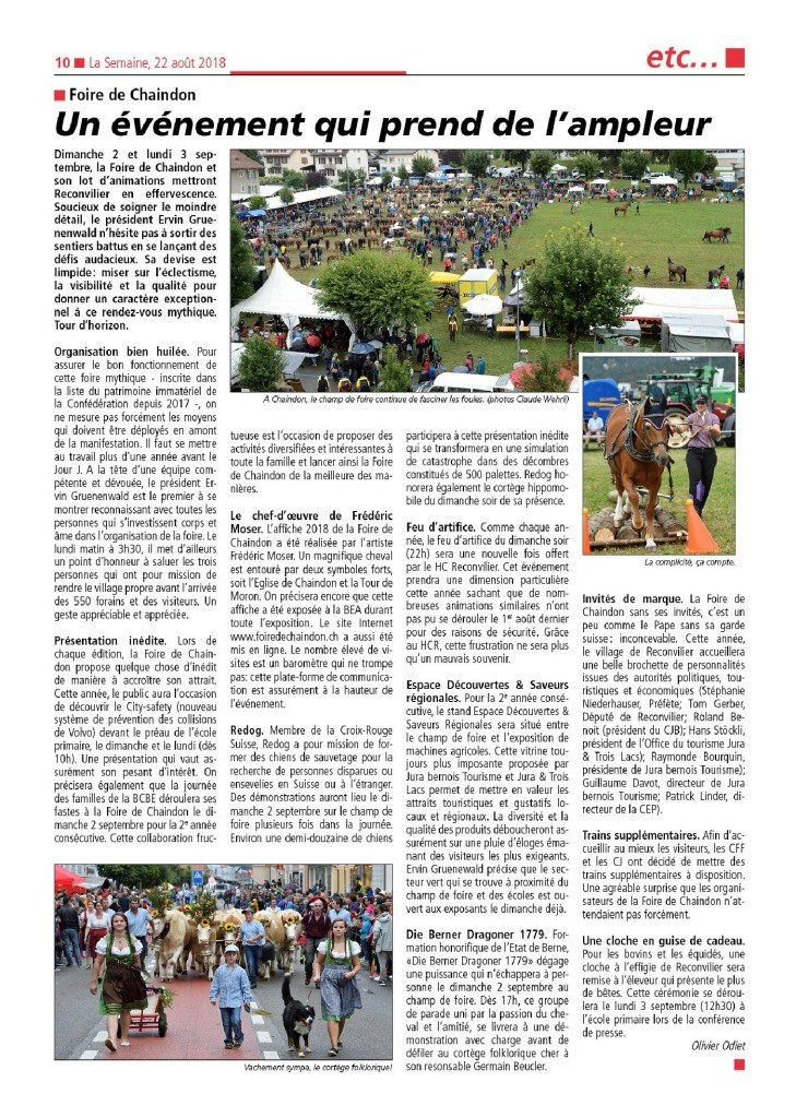 thumbnail of La Semaine du 22.08.2018