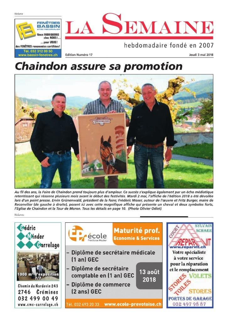 thumbnail of La Semaine du 3 mai 2018